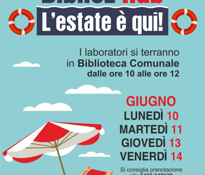 "BiblioL'Hub ""L'estate è qui!"""